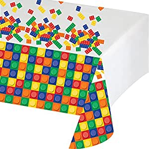 Creative Converting Block Party anniversaire Nappe en plastique, 137,2 x 259,1 cm