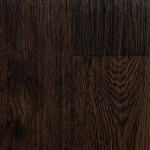 BODENMEISTER BM70555 PVC CV Vinyl Bodenbelag Auslegware Holzoptik Landhausdiele Eiche dunkel 200, 300 und 400 cm breit, verschiedene Längen, Variante: 4 x 3 m