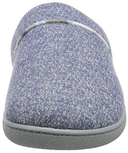 Dearfoams Damen Closed Toe Scuff Pantoffeln Blau (Indigo)