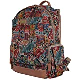 Disney Vintage Style Mickey Mouse Pattern Mesh Multi Purpose Backpack Rucksack (bag-100-1)