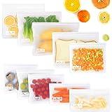 Viedouce Herbruikbare voedsel opslag tassen, herbruikbare sandwich tassen, lekvrije Ziplock Lunch Freezer tassen, herbruikbar
