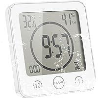 ONEVER Horloge de Salle de Bain Température D'humidité Numérique Horloge Numérique Horloge Horloge Affichage LCD Écran…