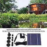 Zerodis Solar Springbrunnen Solarbetriebene Schwimmende Wasserpumpe Panel 1.2W für Fontäne Gartenteich Springbrunnen Vogelbad Aquarium
