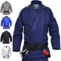 Valor - Kimono Bravura de Jiu-jitsu brésilien bleu marine avec ceinture blanche incluse