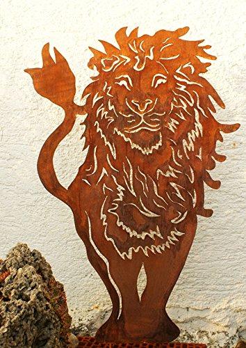 Roststab Gartenstecker Löwe gross*