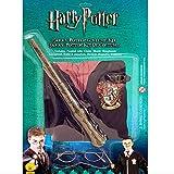 Harry Potter Kinder-Kostüm Set mit Zauberer-Mantel Brille und Stab 8-10 Jahre