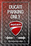 Ducati Parking only park schild tin sign Metallic schild aus blech garage