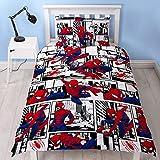 Spiderman Ultimate Metropolis Einzelbett-Bettbezug, wendbar, zweiseitiges Design, inkl. passendem Kissenbezug