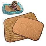 BADASS SHARKS Pet Hund Selbst Kühlung Matte Pad für Hütten, Kisten und Betten Bambus Ice Matte für Hunde & Katzen Kühlen im Sommer