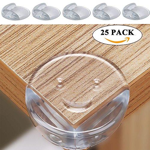 25er Baby Eckenschutz Kantenschutz Kunststoff LächelnGesicht Tischecken Schutz 42 x 42 x 25 mm - 3 Regal-große Tabelle