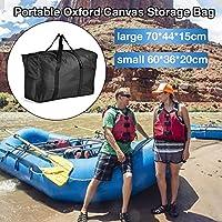 Further Oxford Bolsa de almacenamiento de lona portátil de gran capacidad extra grande con cremalleras bolsa de almacenamiento fuerte debajo de la cama para barcos inflables kayaks