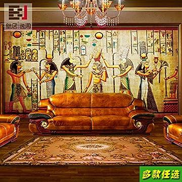 Aolomp Wallpaper Custom Retro Grandes Murales Personas Faraón De Egipto Wallpaper Ktv Bar Cafetería Pirámide Papel Tapiz Personalizado 3