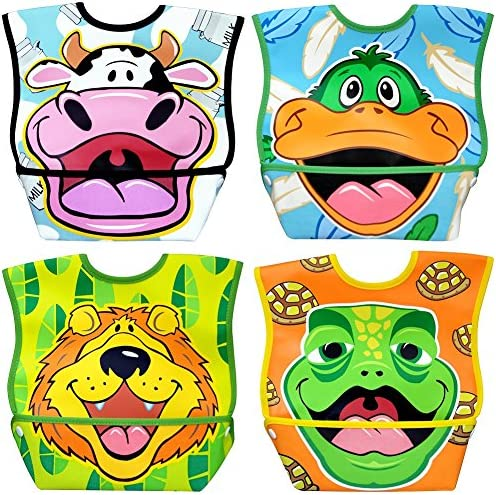 Dex Baby Dura Bib Lion Big Mouth Vache Canard Lion Dura Bib