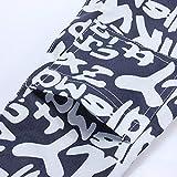 Tinksky Dauerhafte Tragetasche Haustiertasche mit Englische Buchstaben gedruckt Oxford Tuch Single-Schulter Sling Haustier Hund Katze Tasche – Größe L - 2