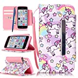 CareyNoce Apple 5C Coque,Flip Housse Etui Cuir PU Coque pour Apple iPhone 5C (4.0...