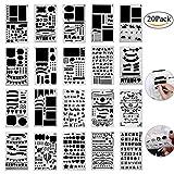 Centtechi Bullet Journal Leuchtturm Set Schablone DIY Zeichen Schablonen Bullet Journal Set Supplies Zubehör Scrapbooking Ideal für Bullet Journal, Scrapbooking, Karten und Kunstprojekte, 20 Stück