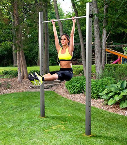 TOLYMP Einfach-Turnreck Starterhorn Eine Klimmzugstange/Turnstange/Turnreck für Outdoor-Fitness, hochwertig aus Edelstahl, für den Garten und die Ganze Familie