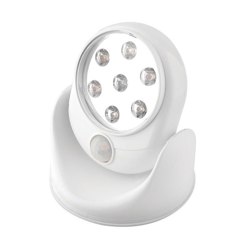 3 x motion activated cordless sensor 7 led light outdoor. Black Bedroom Furniture Sets. Home Design Ideas