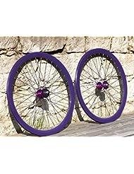 Permanent-fahrrad.de Paire de jantes en aluminium flip-flop pignon fixe 700C, violet