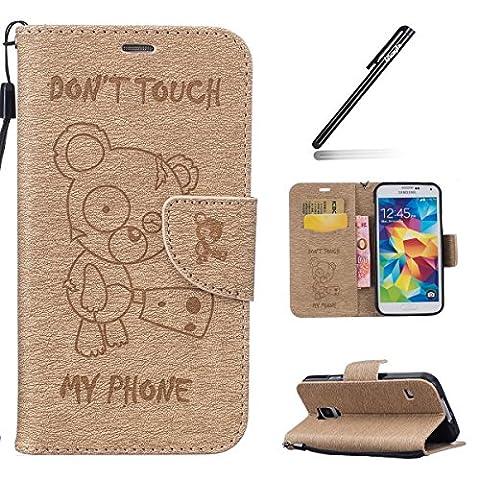 Galaxy S5 Hülle,Galaxy S5 Neo Hülle,Galaxy S5 Lederhülle Brieftasche Handy