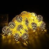 20 LED-Batterie betrieben Lichterketten marokkanische Laternen-Schnur-Licht f¨¹r Garten Rasen Patio Deko Licht Warmwei?