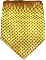 Gold braune XL Krawatte 100% Seidenkrawatte (extra lange 165cm) von Paul Malone