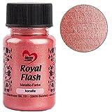 Royal Flash, Acryl-Farbe, metallic, mit feinsten Glitzerpartikeln, 50 ml (koralle)