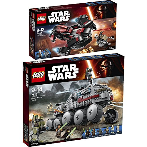 Lego Star Wars Set en 2 parties 75145 75151 Le Vaisseau Eclipse + Clone Turbo Tank