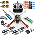 Qwinout DIY 8CH KK V2.3 F450 Frame RC Quadcopter 4-Axle UFO Unassembly Kit RTF/ARF Basic Drone from QWinOut