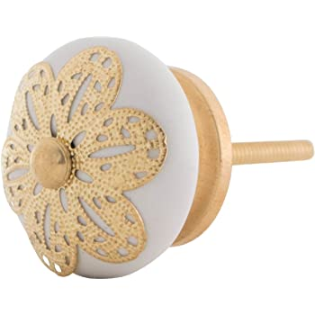 M/öbelknopf Knauf Griff Knopf M/öbelknauf f/ür eine wertige und stilechte M/öbelgestaltung Serie Gold Kue
