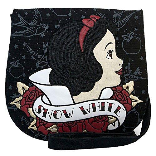 e Snow White Tattoo Umhängetasche Disney Loungefly 31x30x3,5cm schwarz rot (Snow White Böse Königin Disney)