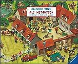 Ali Mitgutsch 2020 – Wimmelbilder – DUMONT Kinder-Kalender – Querformat 52 x 42,5 cm – Spiralbindung: Rundherum in Stadt und Land