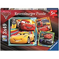 Ravensburger Disney Pixar Cars 3, 3x 49pc Jigsaw Puzzles