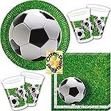 HHO Fußball Football Partyset 52 Teile für 16 Kinder Teller Becher Servietten