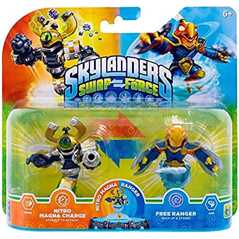 Figurine Skylanders: Swap Force - Nitro Magna Charge + Free Ranger [Importación Francesa]