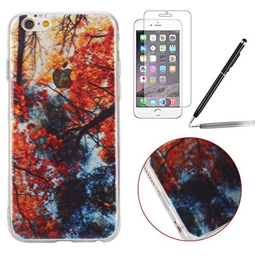 Felfy pour iPhone 6 Plus Silicone Case,iPhone 6S Plus Coque Coque Souple Transparente TPU Silicone en Gel Case Premium Ultra-Light Ultra-Mince Skin de Protection Pare-Chocs Anti-Choc Bumper pour Apple érable