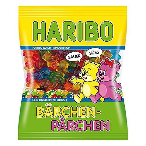 Haribo Twin Ours, Bonbons, Bonbons Gélifiés, Bonbons Fruités, en Sachet, Paquet, 175 g