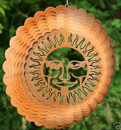 30,5cm Stahl Garten Wind spinner- Sunburst Kupfer (Sunburst Spinner)