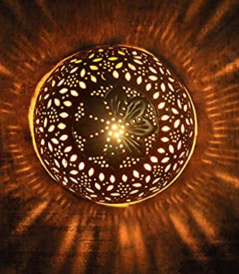 Logam moroccan dome gold wall light amazon home kitchen logam moroccan dome gold wall light aloadofball Choice Image