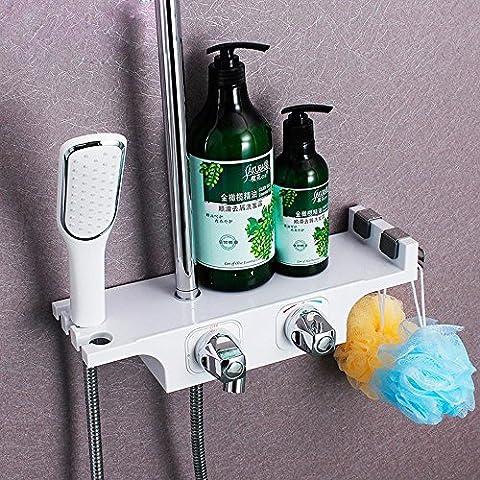 BBSLT-Salle de bains douche, nouvelle douche sertie d'une plate-forme de stockage, le mélangeur de contrôle température Chi Heng, la douche à main,