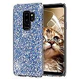 OKZone Galaxy S9 Plus Hülle, Luxus Glitzer Bling Designer Weich TPU Bumper Case Silikon Schutzhülle Handy Tasche Rückseite Hülle Etui Cover TPU Bumper Schale für Samsung Galaxy S9 Plus (Blau)
