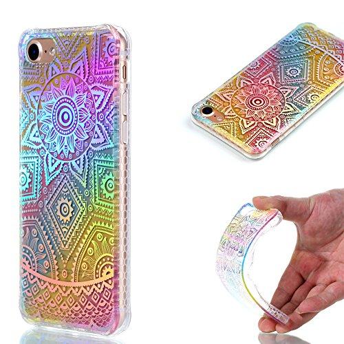 Ooboom® iPhone 8/iPhone 7 Hülle TPU Silikon Handy Tasche Bunt Luxus Case Cover Ultra Dünn für iPhone 8/iPhone 7 - Dreieck Mandala