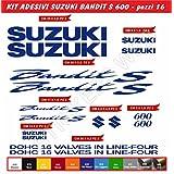 Pegatinas pegatinas Suzuki Bandit S600S-600Kit 16piezas–elegir colore- moto moto bacalao. 0079, Blu Royal cod. 049