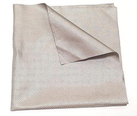 Tissu conducteur Jwtextec RFID blindage EMI Style Diamant Cuivre/nickel Revêtement Tissu, Nickel Polyester Cuivre, argent foncé, 39.37x39.37 Inches(1mX1m)