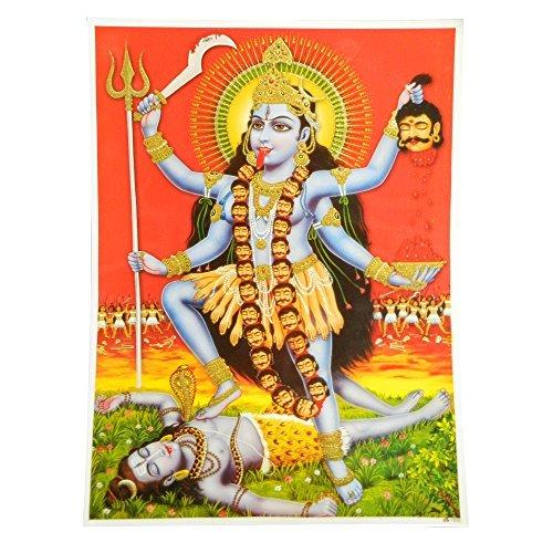 Bild Kali Mahakali 30x40cm Kunstdruck Poster Indien Hinduismus Dekoration Wohnaccessoire