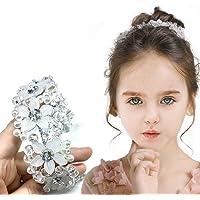 Wedding Headpiece Flower Girl Hair Accessories Pearl Hair Accessories for Girl and Women Bridal Wedding Tiaras