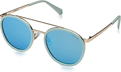 Polaroid Mirrored Round Women's Sunglasses - (PLD 6032/S 1ED 535X|53|Blue Color)