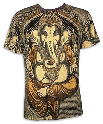 Weed Camiseta Hombre Ganesha - El Dios Elefante Talla M L XL India Hinduismo Buda Yoga (XL, Amarillo)