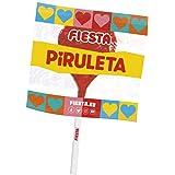 FIESTA Mega Piruleta Estuche con Caramelo con Palo en Forma de Corazón Sabor Cereza - Contiene 17 unidades