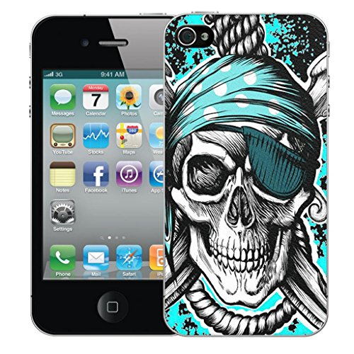 Mobile Case Mate iPhone 5 clip on Dur Coque couverture case cover Pare-chocs - blue hanging skull Motif blue hanging skull